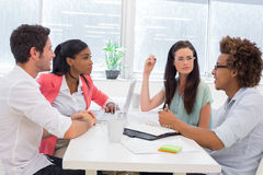 Business people having a meeting together Royalty Free Stock Photos
