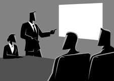 Business people having a meeting using projector. Business concept illustration of business people having a meeting using projector royalty free illustration