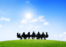 Business People Having an Outdoor Meeting Stock Image
