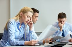Business people having problem in office Stock Photography
