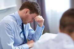 Business people having problem in office Royalty Free Stock Photos