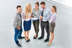Business people. High angle of business people stock photo