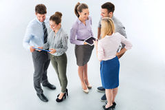 Business people. High angle of business people royalty free stock photography
