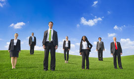 Business People On a Hill Royalty Free Stock Images