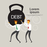 Business People Hold Weight Debt Financial Crisis Concept Stock Photography