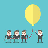 Business people holding balloon Royalty Free Stock Images