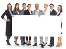 Business people holding a banner Royalty Free Stock Photography