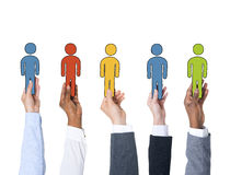 Business People Holding Character and Individuality Concept.  Stock Photos