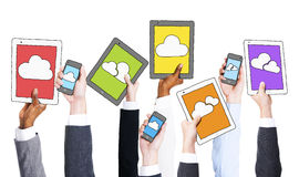 Business People Holding Cloud Computing Concept Stock Image