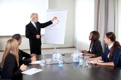 Business people holding a conference at the office Stock Images
