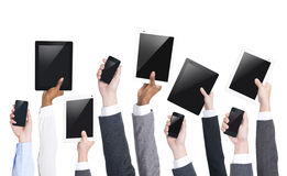 Business People Holding Digital Tablets Stock Images