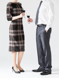 Business people holding goblets of wine Royalty Free Stock Photos