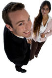 Business people holding hands Royalty Free Stock Image