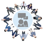 Business People Holding Hands and Communication Concepts Stock Photography