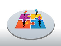 Business people holding jigsaw pieces vector Stock Photos