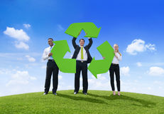 Business People Holding Recycling Symbol Stock Images