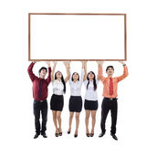 Business people hold copyspace Stock Image