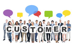 Business People Holding Word Customer Royalty Free Stock Image