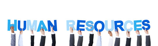 Business People Holding Word Human Resources stock photography