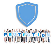 Business People Holding Word Protection Stock Photo