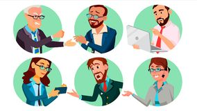 Business People In A Hole Vector. Behavior Concept. Isolated Flat Cartoon illustration. Business People In A Hole Vector. Society Behavior Concept. Isolated Flat stock illustration