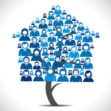 Business people home tree Stock Photography