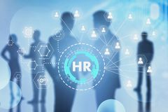 Business people, HR social connection screen stock photo