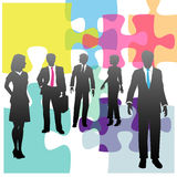 Business people human resources solution puzzle Stock Images