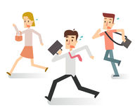 Business people in hurry action. Rush hour. Stock Photography