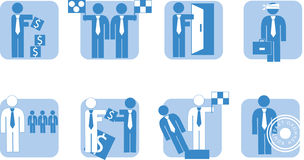 Business people - icon Stock Photo