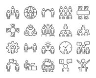 Business people icon. Business people line icon set. Editable stroke, 64x64 Pixel perfect. Business people icon. Business people line icon set. Editable stroke stock illustration