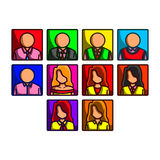 Business people icon set Royalty Free Stock Image