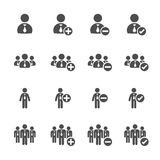 Business people icon set, vector eps10 Royalty Free Stock Images