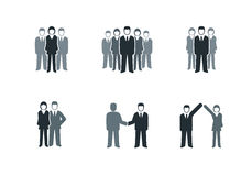 Business People Icon Set royalty free illustration