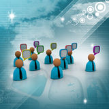 Business people icon with speech bubbles. 3d business people icon with speech bubbles Stock Images