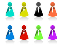 Business people icons Royalty Free Stock Photography