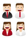 Business people icons Stock Photo