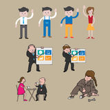 Business people icons cartoon Royalty Free Stock Images