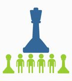 Business_people_icons_chess_queen Obrazy Stock