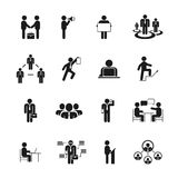 Business People Icons Royalty Free Stock Images