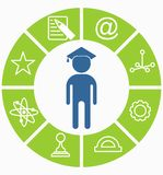 Business_people_icons_education_choice Fotografia Royalty Free