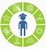Business_people_icons_education_choice Photographie stock libre de droits