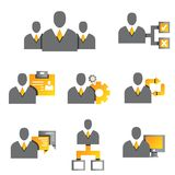 Business people icons royalty free illustration