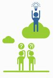 Business_people_icons_idea_cloud 免版税库存图片