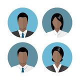Business people icons Stock Photos