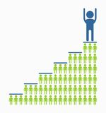 Business_people_icons_ladder_of_success Images libres de droits