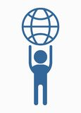 Business_people_icons_man_with_globe 免版税图库摄影