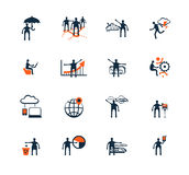Business people icons. Management, human resources Royalty Free Stock Image