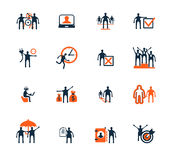 Business people icons. Management, human resources. Marketing, e-commerce solutions. Flat design royalty free illustration