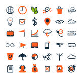 Business people icons. Management, human resources Royalty Free Stock Photos